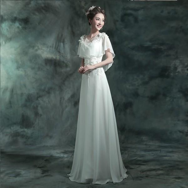 ウエディングドレス 二次会 Aライン 結婚式 パーティードレス