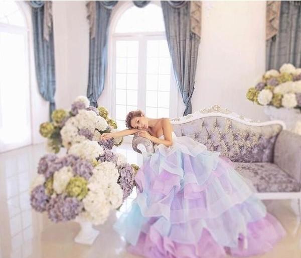 ウェディングドレス カラードレス パーティードレス ロングドレス イブニングドレス